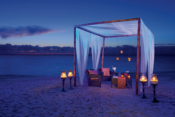 Romantic Dinner on the Beach, Gold Menu